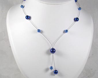 Bridal pearls, blue wedding - Classic Collection - Marina necklace - wedding jewelry wedding necklace bridal necklace