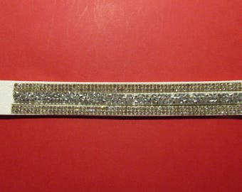 Suede strap with Rhinestones 21cm long and 2cm in width