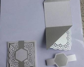 silver white neutral card