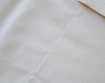 Fabric faux leather white 45 * 50cms