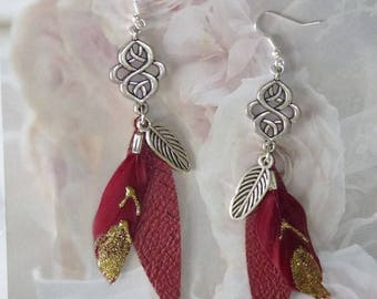 EARRINGS FEATHERS AND NŒUD INFINITY