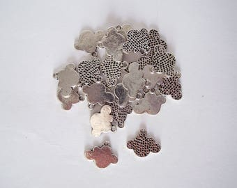 Set of 10 cloud charms.