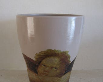 Free shipping! Angel 2 flower pot
