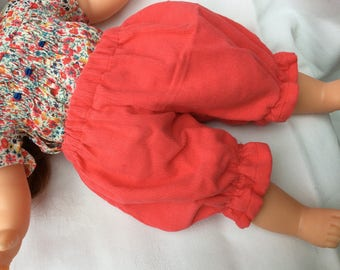Coral velvet bloomers doll clothes doll 36 cm