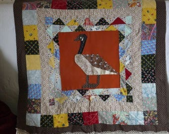 """Quilt, quilting, gift idea, Plaid Patchwork """"Sidonie"""", play mat, wall tapestry, gift idea"""