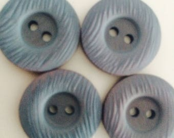 Classic DILL plastic buttons 20MM colour grey blue 2 hole