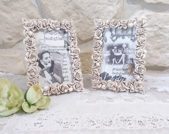 to install, relief, weathered old roses frame