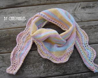 scarf / child soft tones colors