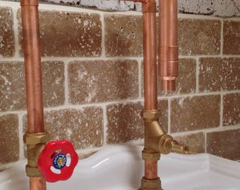 Bespoke 22mm Copper Handcrafted Tap