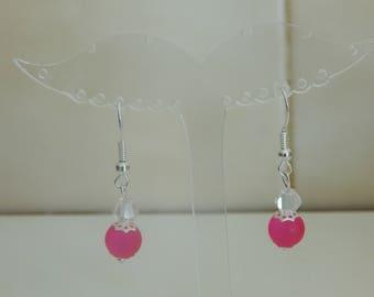 fuschia color earring