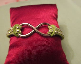 We love to infinity... .this lovely lime green bracelet!