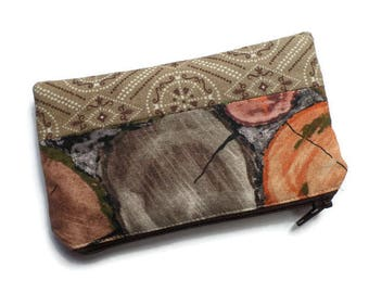 Bandana Pencil Case, Multi Purpose Bag, Coin Purse, Toiletries Pouch, Documents Holder, Fully Lined, Zippered, Unisex
