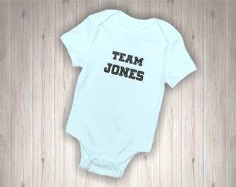 Personalised Baby Bodysuit TEAM SURNAME