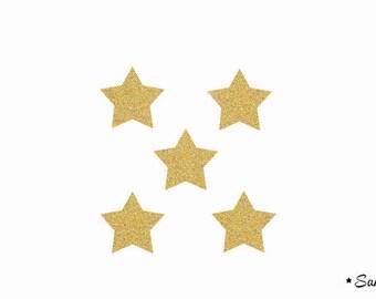 5 stars gold flex fusible paillete