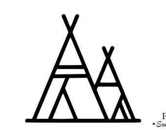 Teepee Clipart Black And White