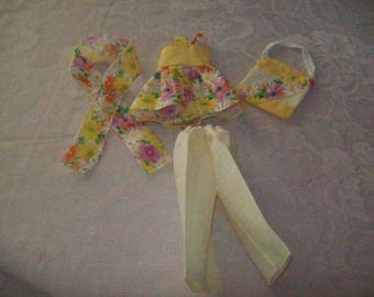 clothes for dolls 32 33 cm, compatible with the chéries(tunique,haut,pantalon,bandeau,sac)