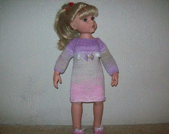 clothes for dolls, gotz 50 cm (hand knitted wool dress), suitable for Hannah