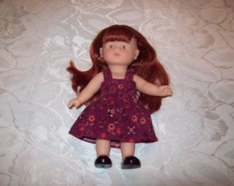dress for doll 20 cm:type corolline printed Velvet