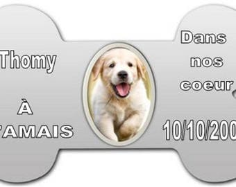 funerary plaque for dog to be personalized