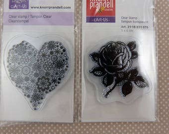 Assortment of small scrap clear stamps