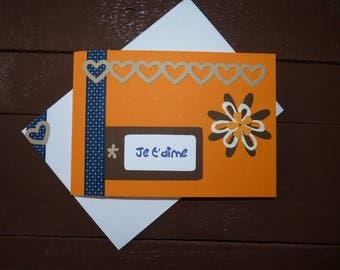 "Greeting card ""I love you"" craft"