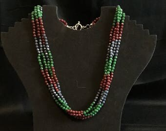 Multi-string necklace