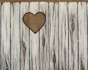 Wooden door bed Tissutete trompe l'oeil room shabby chic