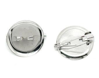 22/23 mm 5 Support brooch cabochon
