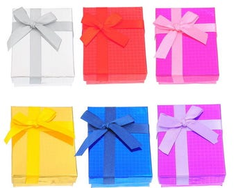 6 jewelry boxes with bow 7 x 9 cm within 15 days
