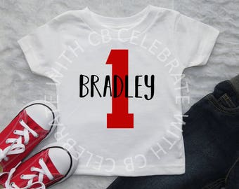 Custom Birthday Tshirt or Onesie, First Birthday Shirt