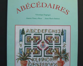 """Embroidery """"The big book of the alphabet"""" book published by the time Apprivoise"""