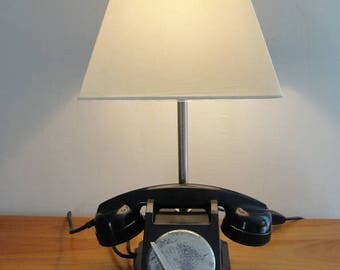 Object away telephone black bakelite lamp
