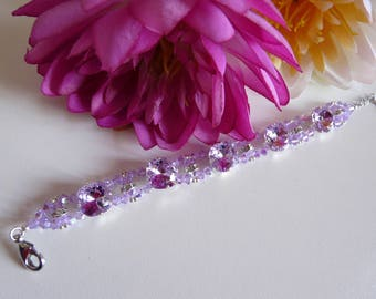 """Violet flower"" BRACELET in SWAROVSKI Crystal pearls"