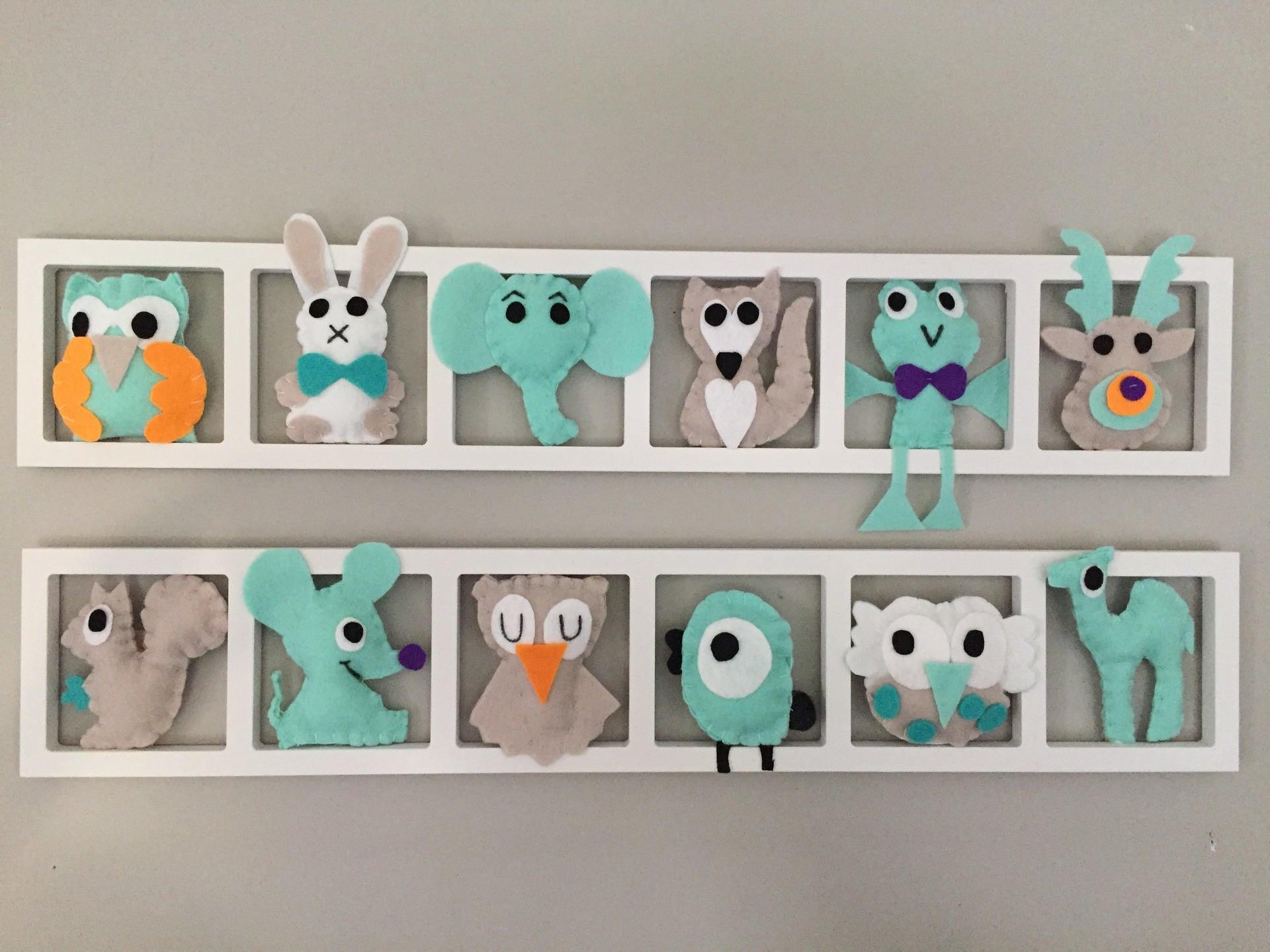 Decoration chambre enfant et bébé Cadre mural animaux