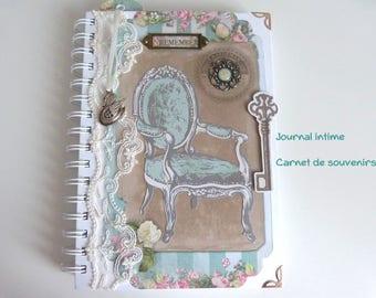 Shabby - book of memories - block diary notes - women's gift idea - romantic spirit
