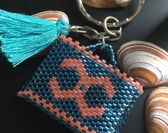 Jewelry bag with miyuki beads - asha