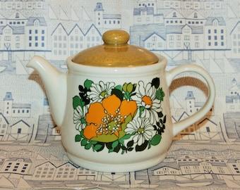 Vintage Sadler Flower Print Teapot