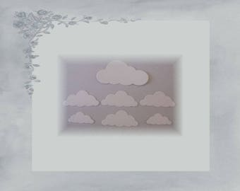 LPPO-0008 - cut paper 220gr - white clouds