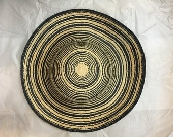 Novelty panama straw hat body capeline for hat making millinery