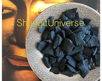 Shungite water stones - 100 gr,EMF protection,Fullerene water,Healing crystals,Shungite antioxidant,Detoxification stone