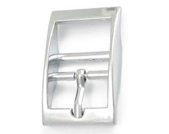 buckle belt large silver model