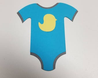 Baby Onesie Girl or Boy Baby Shower. Choose Colors