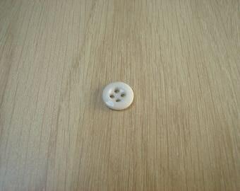 White glass button four hole