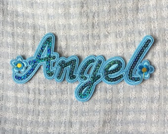 Angel Patch Sequin Patch, Iron on Patch, Sew On Patch, Embroidered Patch