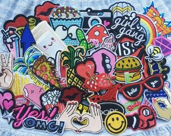Patches Set 10pcs Mixed Patches, Wholesale Patch, Patch a lot,