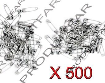 Set of 500 Mini pins of nurses in Metal silvered 19 x 5 mm.