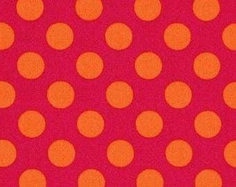 Patchwork polka dot ta dot bubblegum Miller fabric