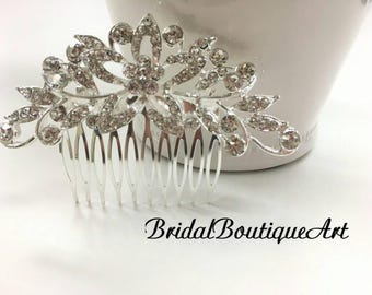 Bridal hair comb,Wedding hair com,Bridal hair accessories,Rhinestone hair comb