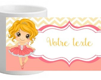 LITTLE DANCER CERAMIC MUG PERSONALIZED WITH THE NAME OF YOUR CHOICE