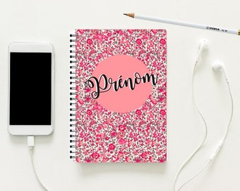 A5 notebook with hardcover personalized LIBERTY
